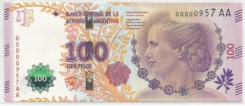 BILLETE DE 100 PESOS