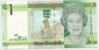 BILLETE DE IS. JERSEY, 1 POUND, AÑO 2001