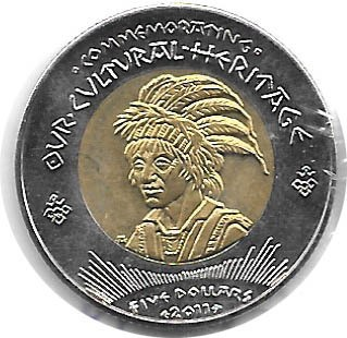 MONEDA DE COYOTE INDIAN, 1 DOLAR, AÑO 2011