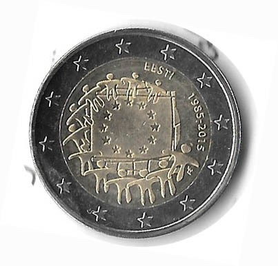 MONEDA DE ESTONIA , 2 EUROS, AÑO 2015