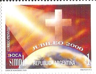 Correo Privado - OCA Simple - 1999 - Jubileo 2000 - $1.-