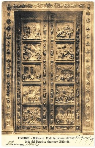 Firenze. ballistero. porta in bronzo all`Est.