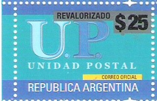 Sello UP revalorizado $25.- año 2018