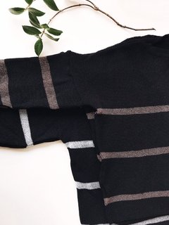 SWEATER MARGARITA - NEGRO&COBRE
