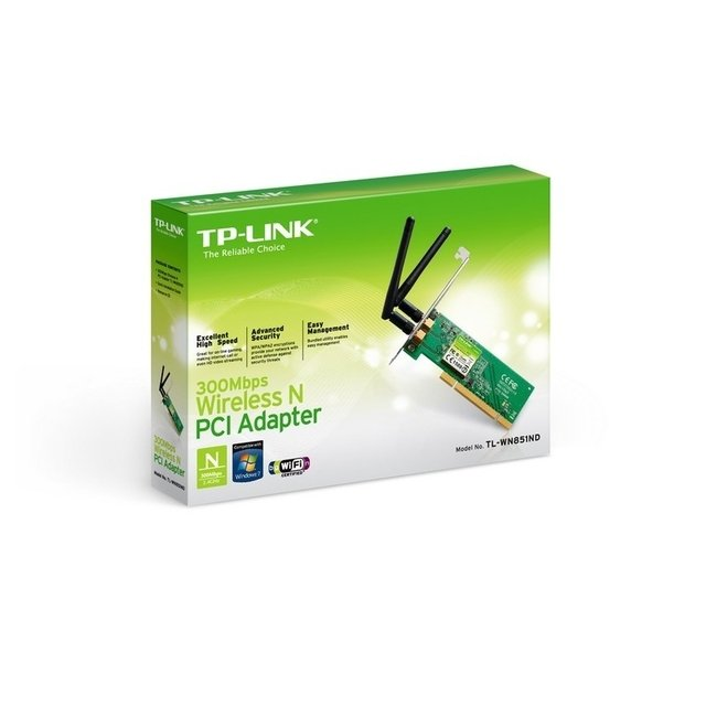 PLACA WIRELESS PCI TP-LINK TL-WN851ND 300MBPS 2 ANTENAS