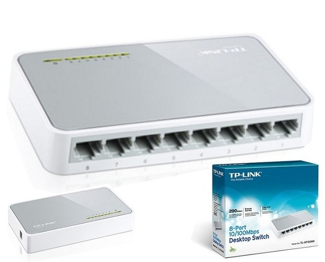 SWITCH TP-LINK 8 BOCAS 10/100MB SF 1008D