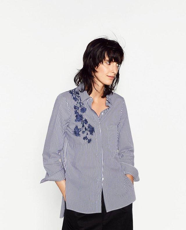 calidad perfecta gama completa de artículos super popular Camisa ZARA flores azules