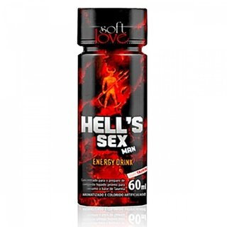 Afrodisíaco Hell's Sex Man Energético 60ml Soft Love 100379