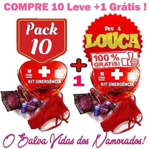 PACK PROMOCIONAL - PAGUE 10 LEVE 11 KITS EMERGENCIA - JEITO SEXY
