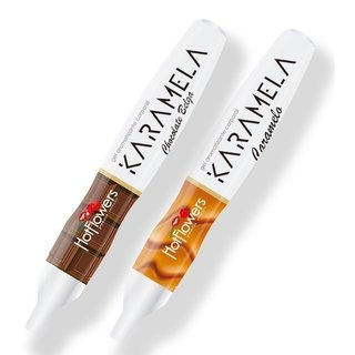 CANETA HOT PEN KARAMELA COMESTÍVEL 35G - HOT FLOWERS 101915
