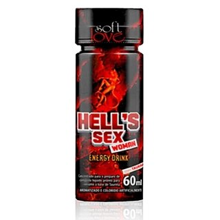 Afrodisíaco Hells Sex Energy Drink Woman Feminino 60ml Soft Love 100380 - comprar online