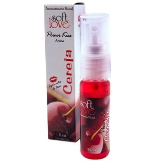 Aromatizante Bucal Excitante beijável power kiss 15ml - soft love 100344 - Sex shop  Atacado MiniPreco Sexshop - Produtos Eróticos - sexy shop