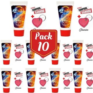 PACK10- ICE HOT (ESQUENTA E GELA) EXCITANTE BEIJAVEL 15 ML - TopGel Cosméticos 101864