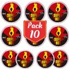 PACK/10 SUPER HOT (EXCITANTE ESQUENTA) 4G - TOPGEL 101036