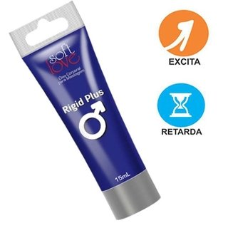 Rigid Plus 15ml  - Soft Love (Provocador e Prolongador de Ereção) 100366 - comprar online