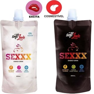 SEXXX ENERGY DRINK AFRODISÍACO 200ML - SOFT LOVE