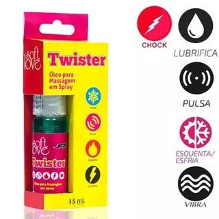 Spray Twister (Esquenta, Gela, Pulsa e da Choque)  15ml - Soft Love 100335 - comprar online