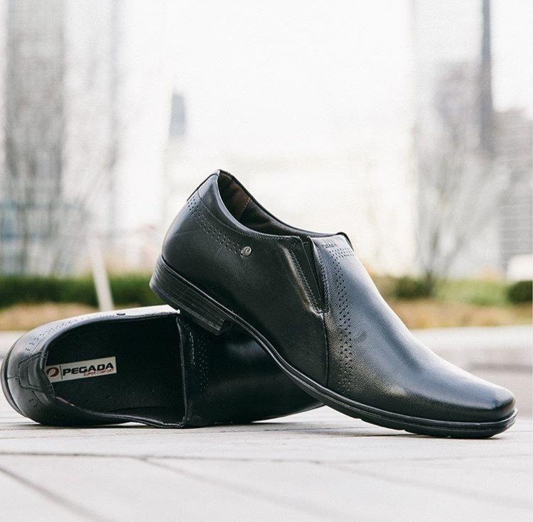 f1545502d1 Sapato Masculino em Couro Pegada entrega em todo Brasil