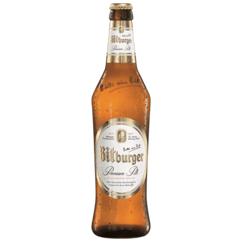 botella bitburger lager pilsner 500ml