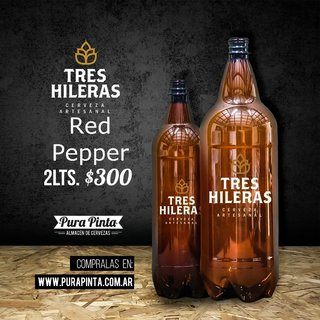 Tres Hileras - Red Pepper - 2 Litros