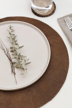 LEATHER PLACEMAT | SET 6 CHOCO - comprar online