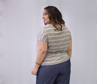 T-Shirt Listrada Plus Size