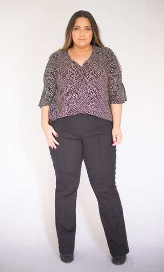 Calça Flare Color Legging Cintura Alta Plus Size