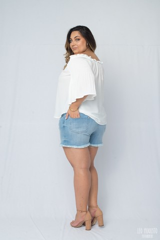 Short Jeans Destroyed Plus Size