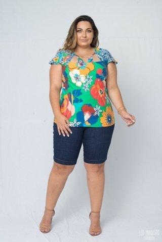 f2332d857 Encontre Blusa feminina plus size com renda | Multiplace