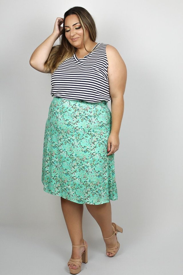 Saia Midi Florida Plus Size