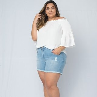 Short Jeans Destroyed Plus Size *