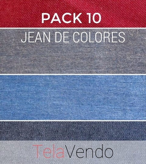 PACK 10 - Jean Colores Surtido