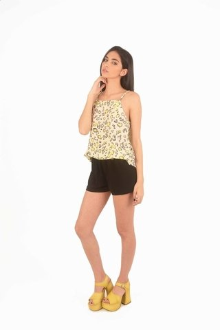 Musculosa Halter Lace Animal