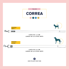 CORREA PAPERCUTS BLUE- 2 METROS - be-dog.com