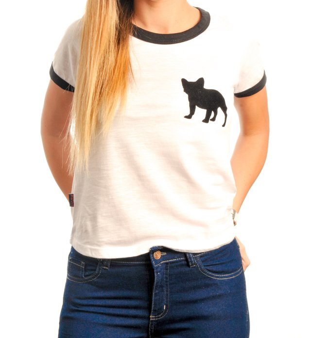 Remera Ringer Bulldog French