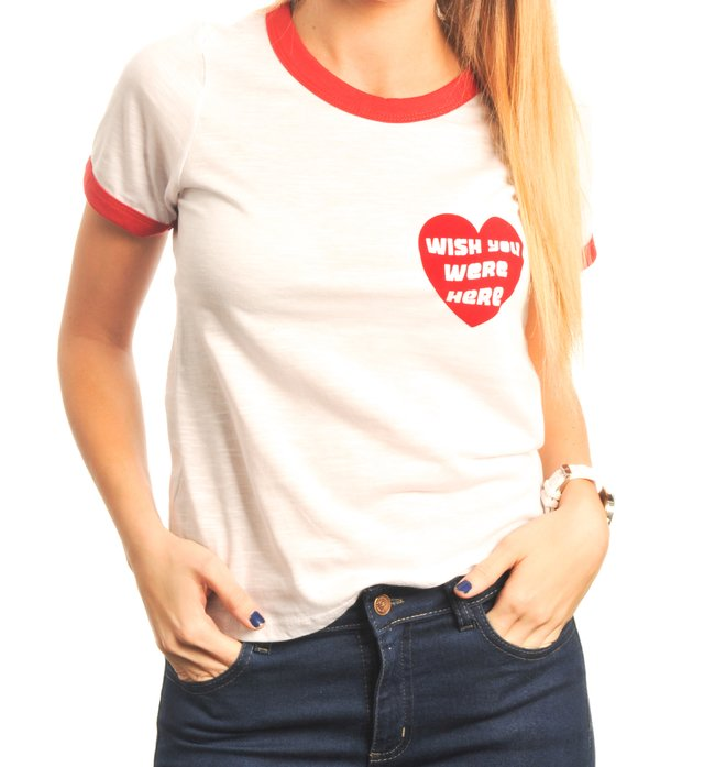 Remera Ringer Wish You Were Here - comprar online