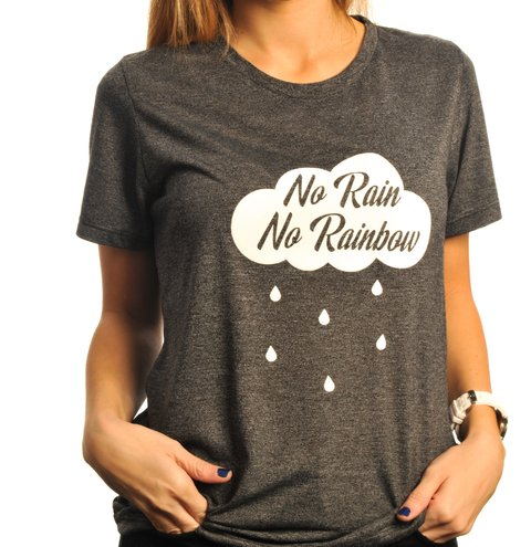 Remera No Rain No Rainbow