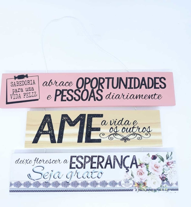 PLACA DECORATIVA ''ABRACE OPORTUNIDADES''