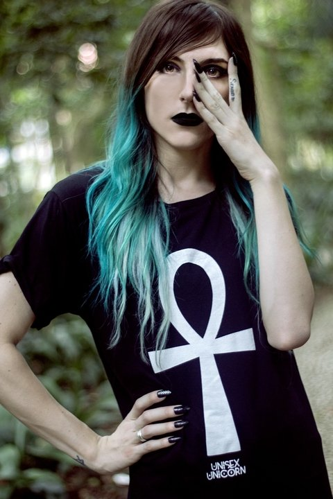 Alternative Unisex Clothing Brand: Witch Ankh gothic Dress, genderfluid, agender, androgynous, gender neutral clothing