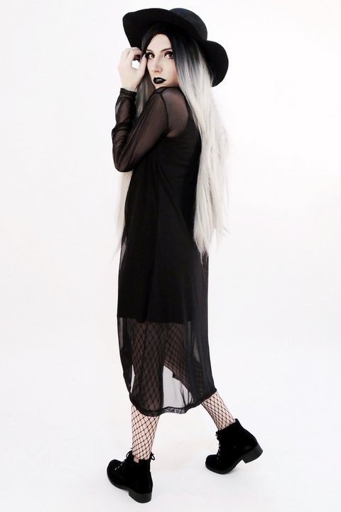 Black Shadow Maxi Cardi - buy online