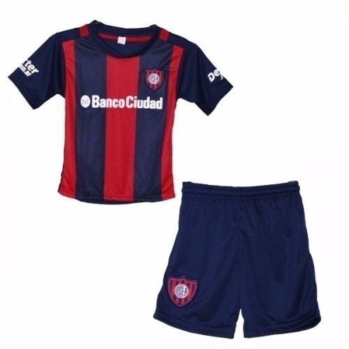 Mini Kit Camiseta San Lorenzo + Short Niños 2016 Titular