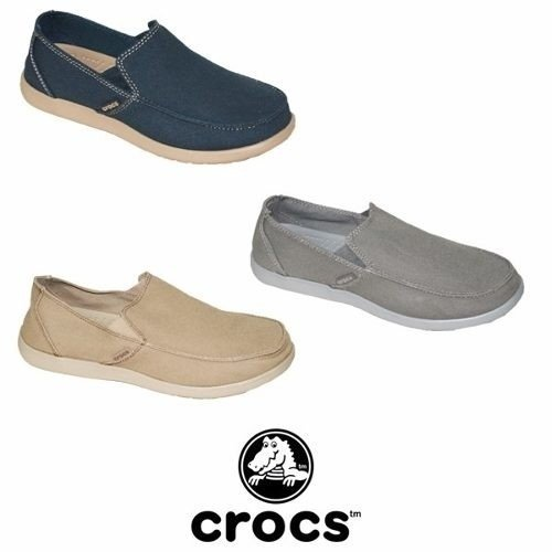 Crocs Santa Cruz Clean Cut Moke Light Grey Adultos - nicodeportes