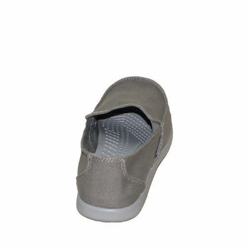 Crocs Santa Cruz Clean Cut Moke Light Grey Adultos - comprar online