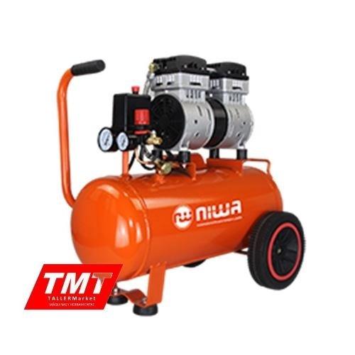 Compresor De Aire Sin Aceite 1.5 Hp 24 Litros Niwa Silencioso