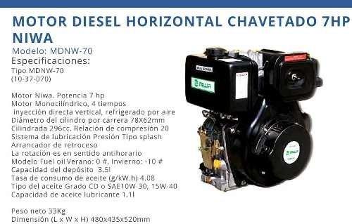 Motor Horizontal Diesel Niwa Mdnw70
