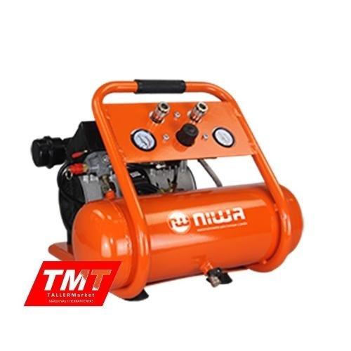 Compresor De Aire Sin Aceite 3/4  Hp 6 Litros Niwa Silencios