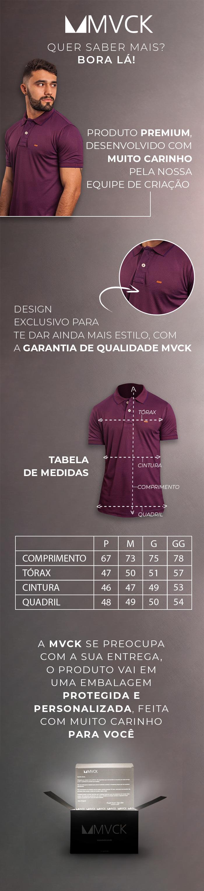 Descrição Camisa Polo Marsala