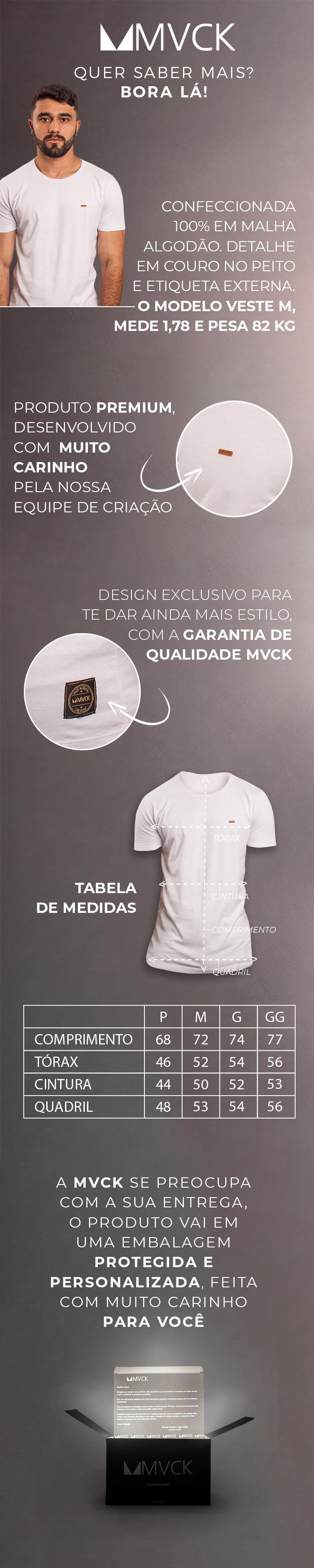 Descrição Camiseta Masculina Branca