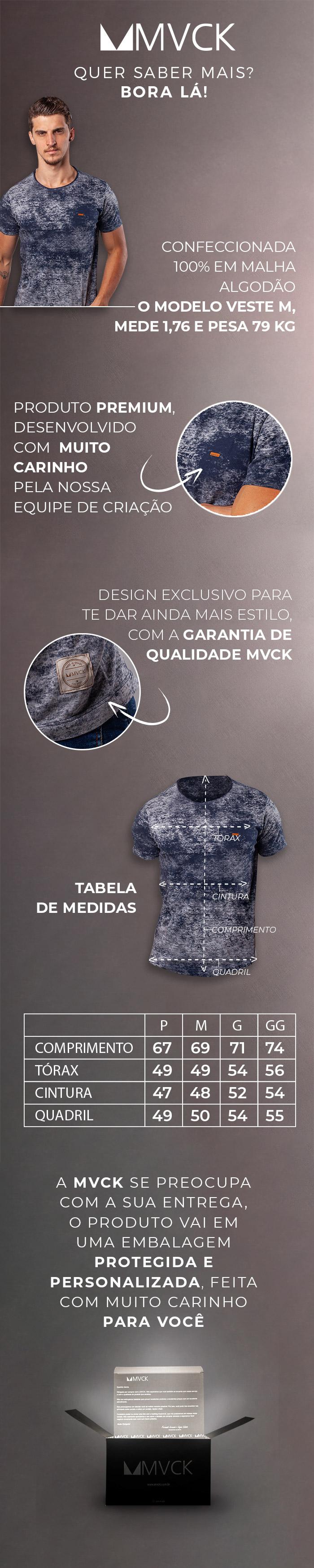 Descrição Camiseta Masculina Abstract