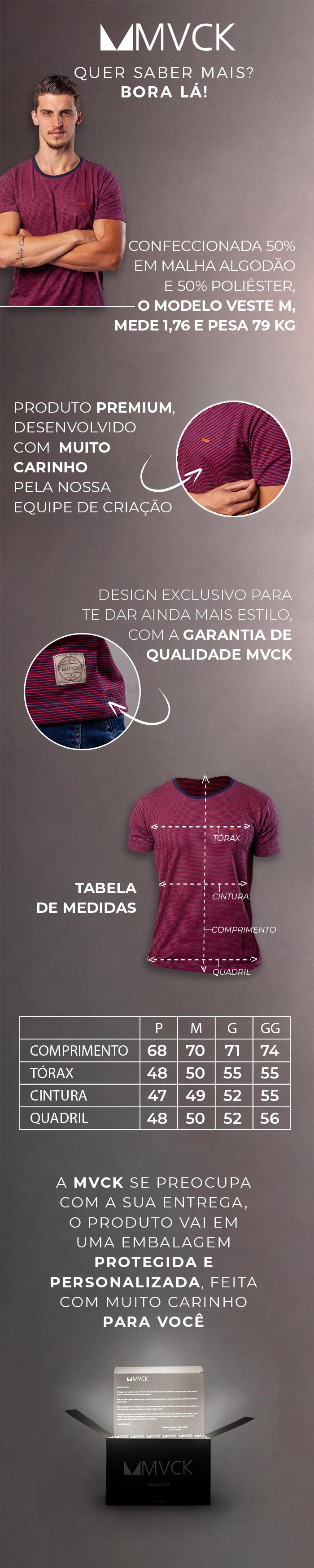 Descrição Camiseta Masculina Line